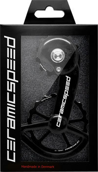CeramicSpeed CeramicSpeed Shimano 9100/9150 Oversized Pulley Wheel System: Alloy Pulley, Carbon Cage, Black