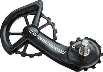 CeramicSpeed CeramicSpeed Shimano 9100/9150 Oversized Pulley Wheel System: Coated, Alloy Pulley, Carbon Cage, Black
