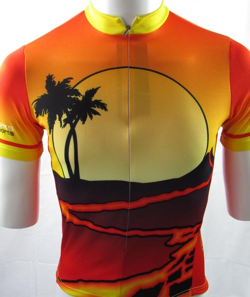 Bike Works Lava FLow / Sunset Mens Jersey