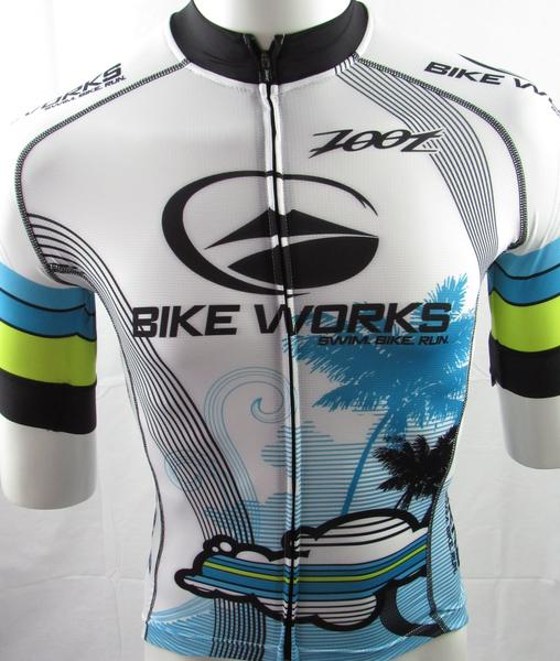 Bike Works Mens White Cloud Jersey