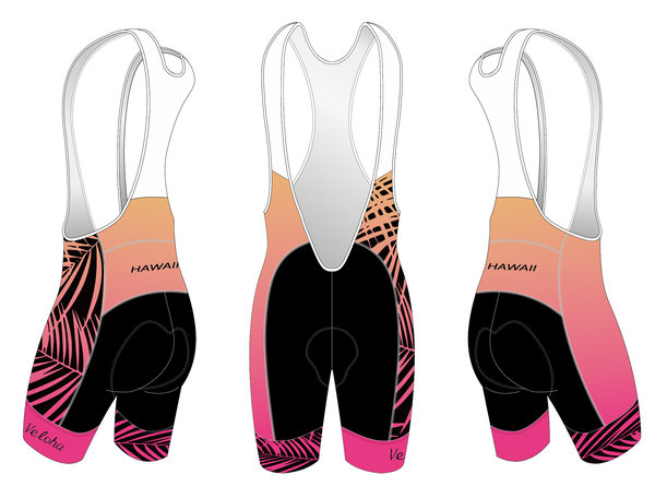 Bike Works Pink Palm Cycling Bib Short