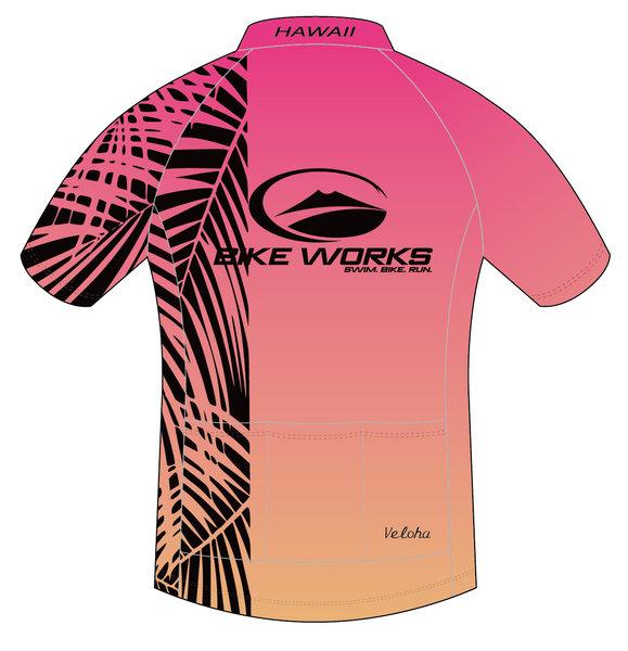 Bike Works Pink Palm Cycling Jersey