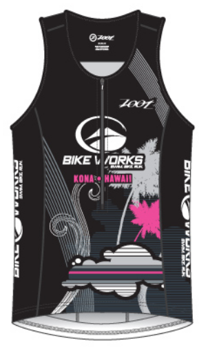Bike Works Womens Black Cloud Tri Tank