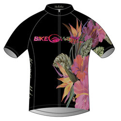 Bike Works Black Flower Cycling Jersey