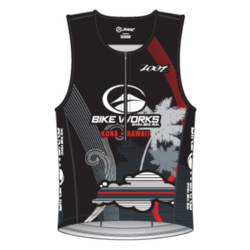 Bike Works Mens Black Cloud Tri Tank