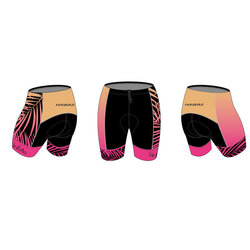 Bike Works Pink Palm Tri Short