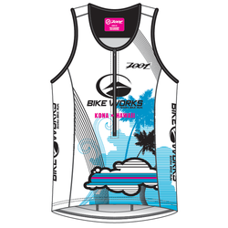 Bike Works Womens White Cloud Tri Tank