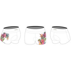 Bike Works White Flower Tri Short