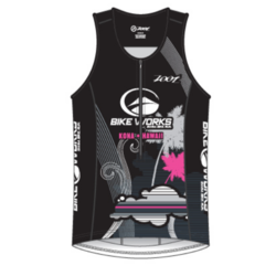 Bike Works Womens Black Cloud Tri Tank