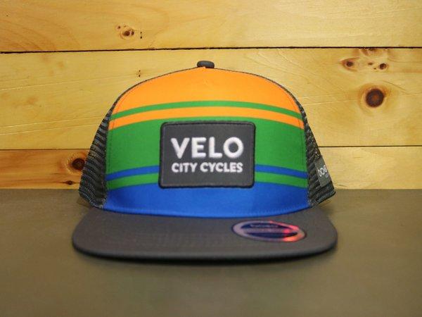 Velo City Velo Flatbill Trucker Hat