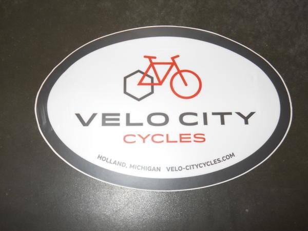 Velo City Oval Sticker