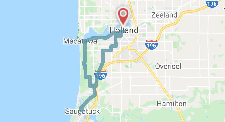 Ride Spot Map Screenshot | Road Ride South