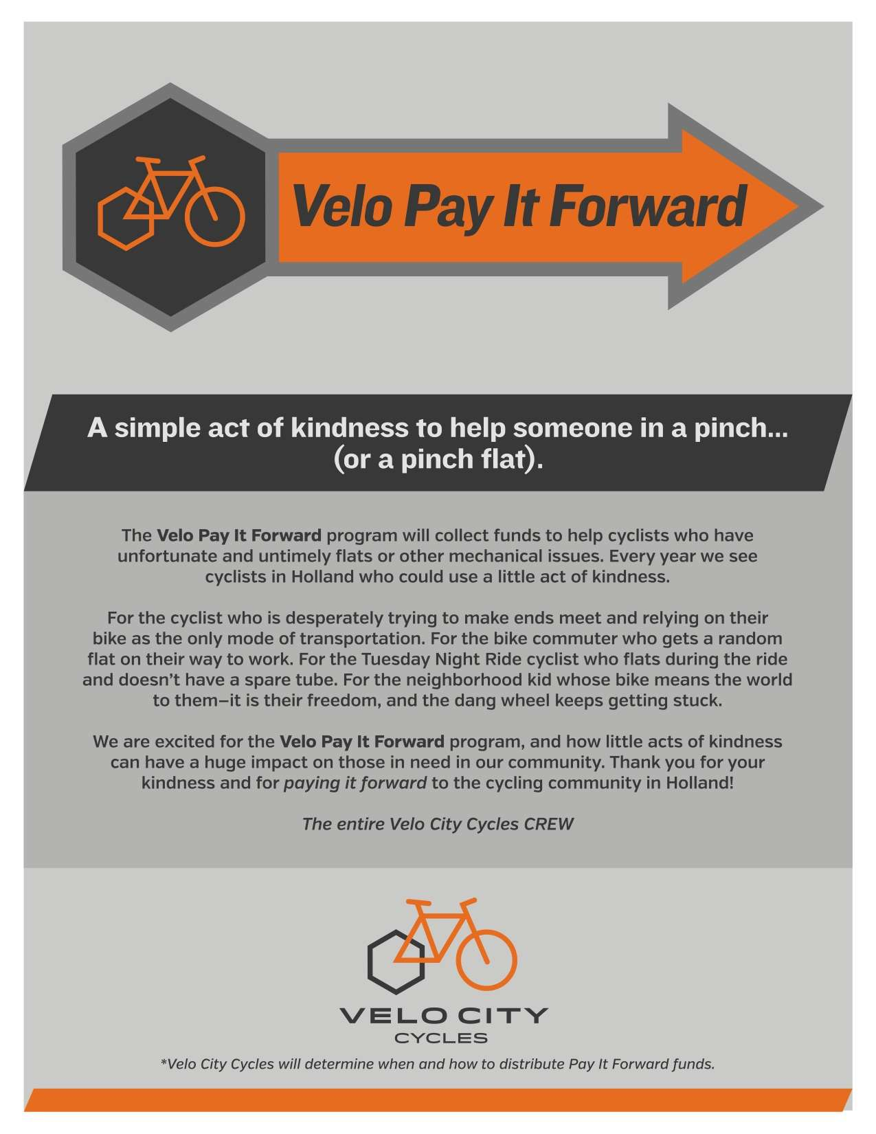 Velo Pay It Forward Information Image