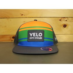 Velo City Velo Flatbill Trucker Hat