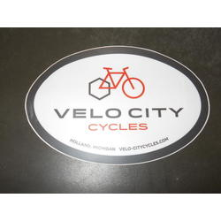 Velo City Oval Sticker