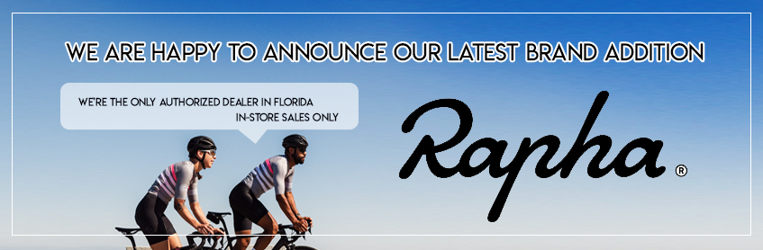 Rapha, our latest brand addition