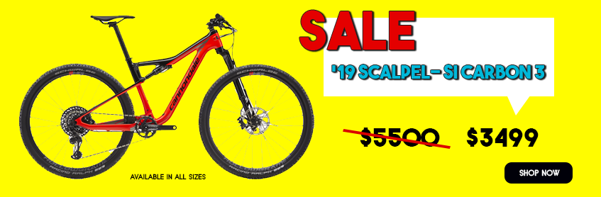 '19 Cannondale Scalpel SI Carbon 3 on sale, $3499