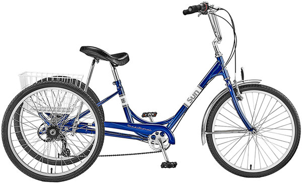 "Sun Bicycles Traditional Adult Trike 24"" 7 Speed"