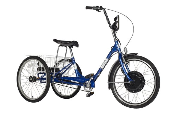 "Charlotte Cycles 24"" Electric Assist Adult Tricycle 500 Watt motor"