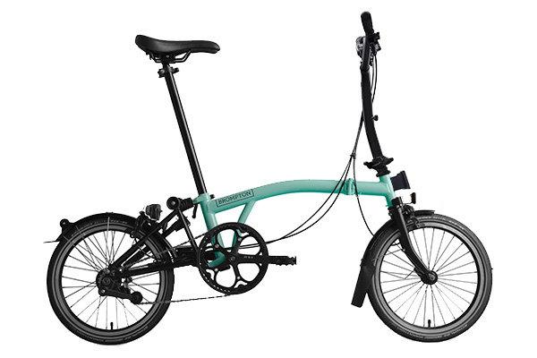 Brompton Folding Bike Black Edition H6L Turkish Green Gloss