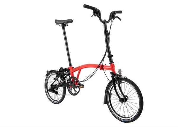 Brompton Black Edition M6L Rocket Red Gloss