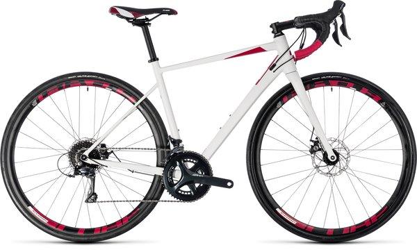 Cube Axial Pro Disc Women's Sora Road Bike White/Berry