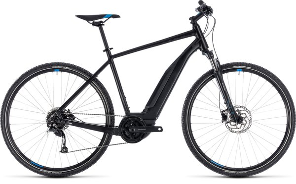 Cube Cross Hybrid ONE 400 Black w Blue Accent
