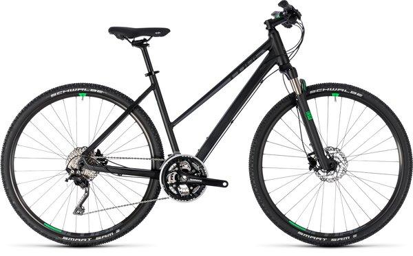 Cube Cross XT Mountain Hybrid Black w Green Accent