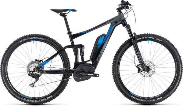 Cube Stereo Hybrid 120 EXC 500 Electric Full Suspension MTB Black/Blue