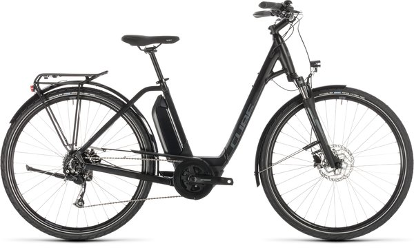 Cube Town Sport Hybrid ONE 400 Easy Entry 46/XS/SML Electric Hybrid Black