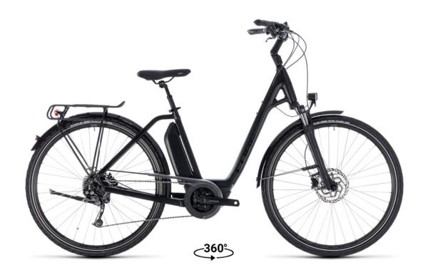 Cube Cube Town Sport Hybrid 400 Comfort Easy Step-Thru Electric Bike Black