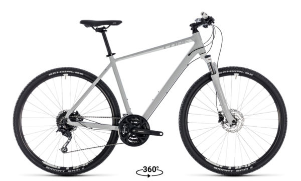 Cube Nature Pro Urban Mountain Hybrid Grey/White