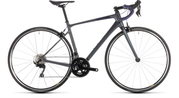 Cube Axial Women's GTC Pro Road Bike Charcoal Iridium/Aubergine