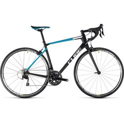 Cube Attain GTC Pro 105 Road Bike Black/Blue 50cm