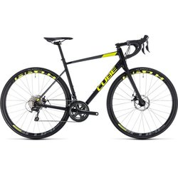 Cube Attain Race Disc Tiagra Road Bike Black/Yellow 50cm