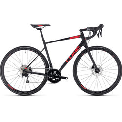 Cube Attain SL Disc 105 Road Bike Black/Red