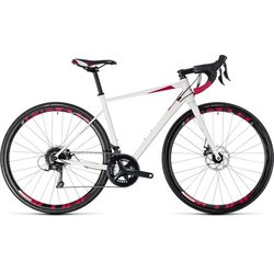 Cube Axial Pro Disc Women's Sora White/Berry 47cm