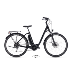 Cube Cube Town Sport Hybrid 400 Comfort Easy Step-Thru Electric Bike Black