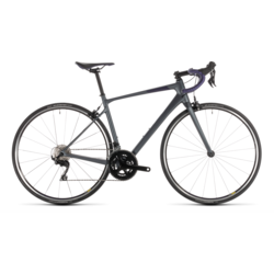 Cube Axial Women's GTC Pro Road Bike Charcoal Iridium/Aubergine