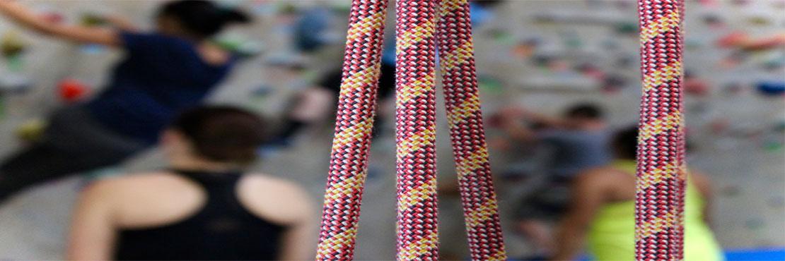 climbing gym ropes