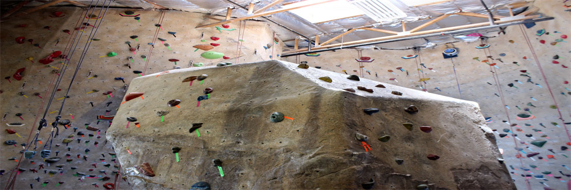 Our indoor climbing wall - vert gym