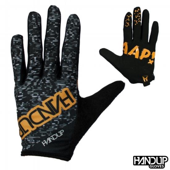 Handup Gloves Braaap! - Static - Black/White/Orange