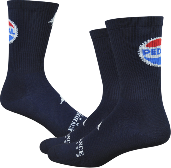 "Endurance Threads Pedal 6"" Sock Navy"