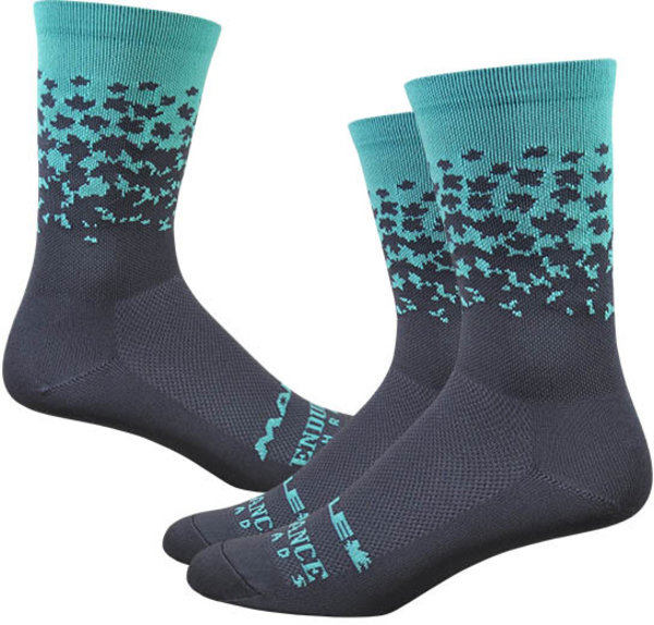 "Ride Maple LOTW 6"" Race Sock - Neptune & Charcoal"