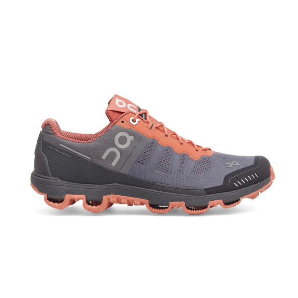 On Running Cloudventure - Women's Color: Grey & Lava