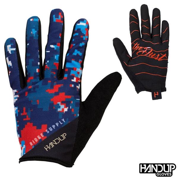 Handup Gloves Shake the Dust - Ridge Supply Digi Camo - Red/White/Blue