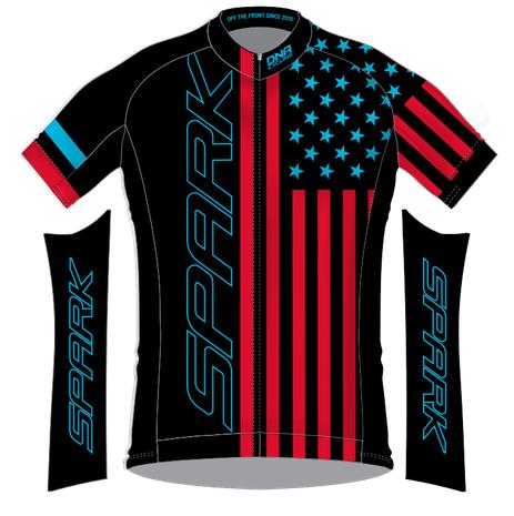 Spark Patriot Race Jersey by DNA - Black RB