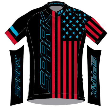 Spark Patriot Race Jersey by DNA - Women's - Black RB
