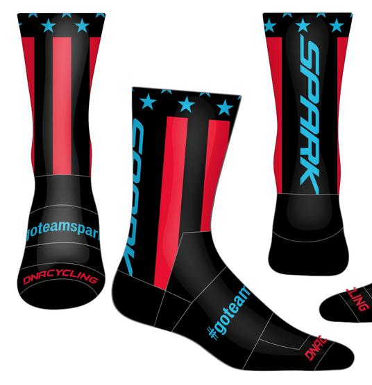 Spark Patriot Socks by DNA - Black RB