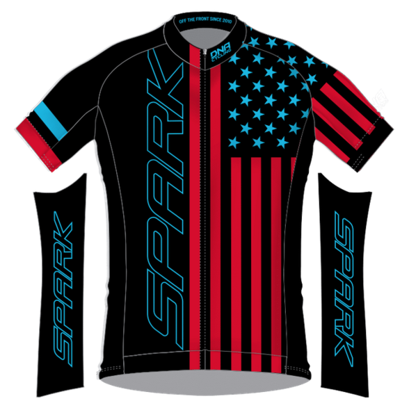 Spark Patriot XC Trail Jersey by DNA - Black RB